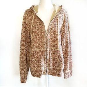 Lucky brand John Robshaw Boho full zip hoodie